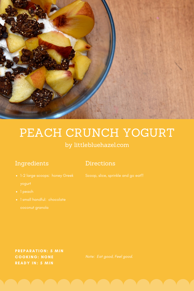 Peach Crunch Yogurt