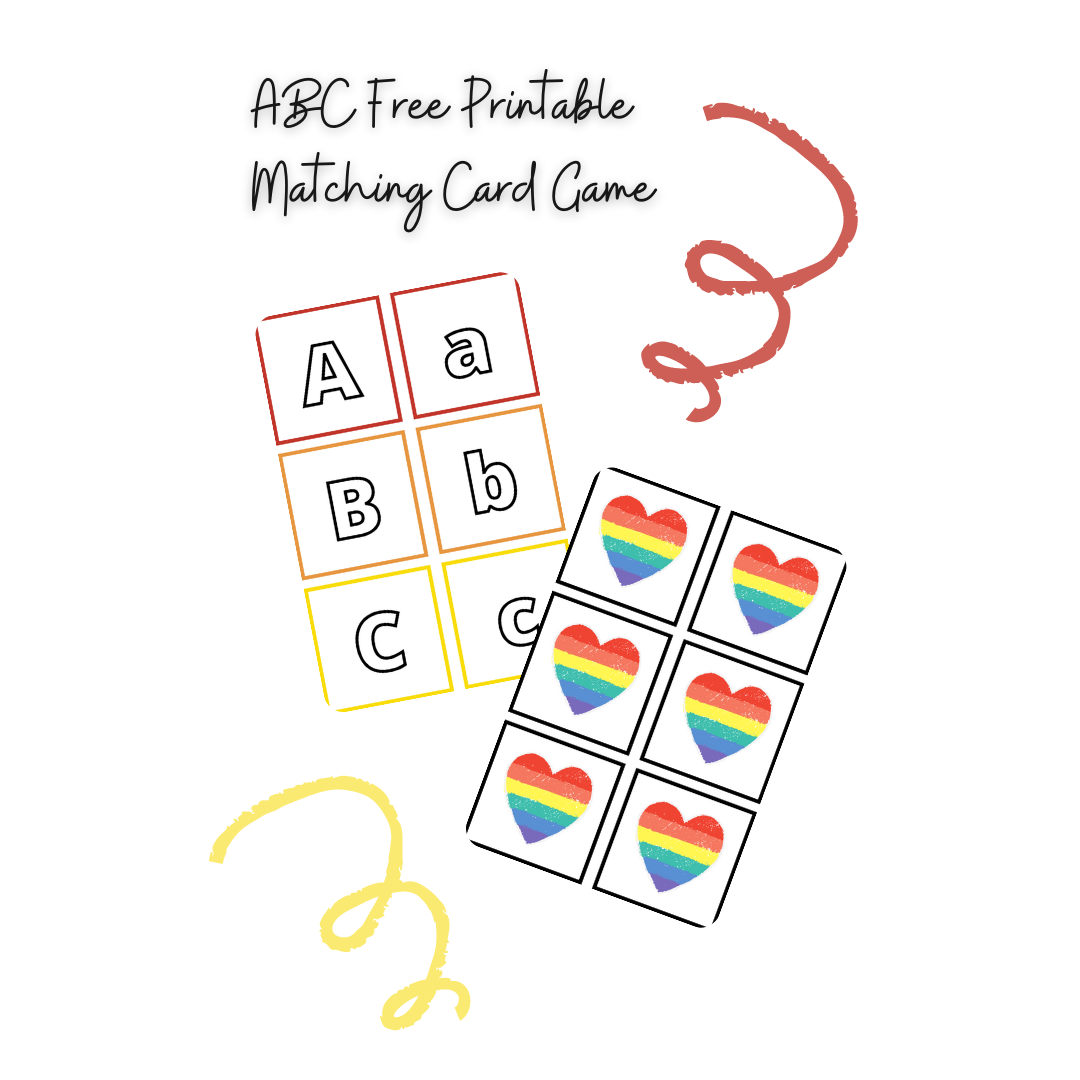 ABC Free Printable Matching Card Game