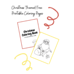 Christmas Themed Free Printable Coloring Pages